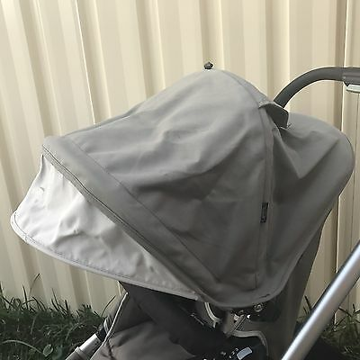 "Hood Canopy For Strider 3 and 4 wheel Version ""slate"" green beige Stroller Pram"
