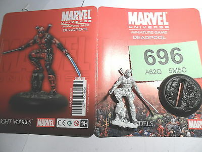 Knight Models Marvel Game X-Men Deadpool Merc with a mouth oop rare Lot 696