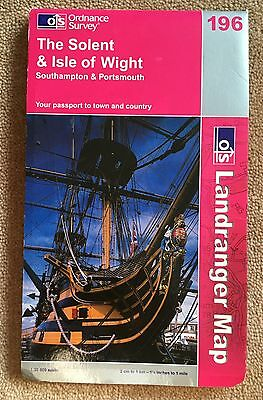 THE SOLENT & ISLE OF WIGHT Landranger no. 196 Ordnance Survey Map 1:50000