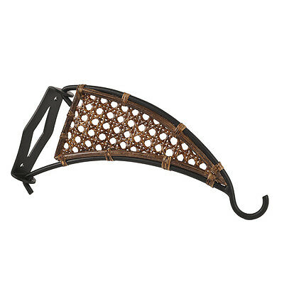 Garden Wall Hanger Hook - Basket Plant Holder - Metal/Wood - Black-10""