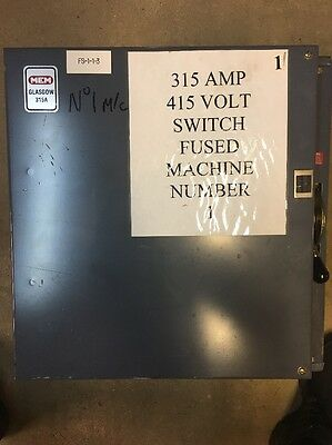 Eaton Mem 315A-630A 303Gnc Three Phase Main Switch 415V Fuses