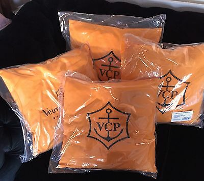 Veuve Clicquot Champagne Yellow  Cushion 36 Cms  Square  X 4  Cushions New
