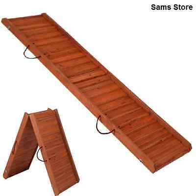Dog Ramp Foldable Wooden Protects Pets Joints Bones Strain Arthritis Carry Hand