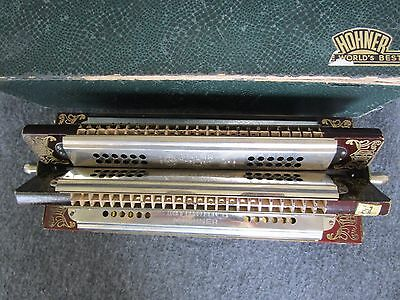 Rare Antique Hohner Six Sided A B C G D F Sextet Harmonica In Original Box 1930s