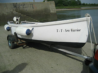 PARKER 12ft DINGHY * TENDER * BOAT * FISHING * WITH OUTBOARD & TRAILER & MORE
