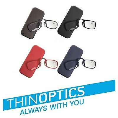 Optics Thin Reading Glasses All Strengths +1.00 To +3.50 / Free Case