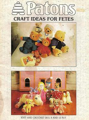40 Page Patons Knitting & Crochet Book:  35 Designs For Toys & Craft:see Listing