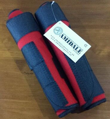 Medicine / Brushing Boots. Red. Size Cob. Set Of 2