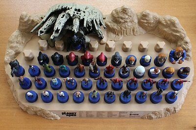 Pepsi Planet of the Apes Bottle Cap Figure Full Set of 42 & Stage & SP 3 Types