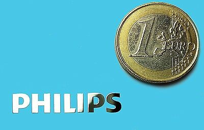 PHILIPS METALISSED CHROME EFFECT STICKER LOGO AUFKLEBER 30x5mm [681]