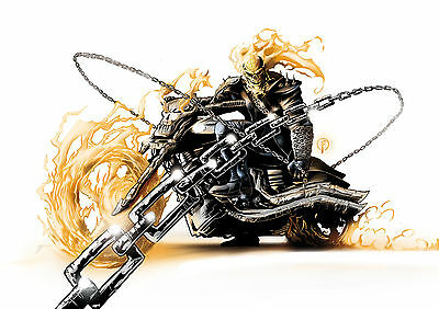 """Ghost Rider White (LAMINATED) POSTER 61x91cm (24""""x36"""")"""