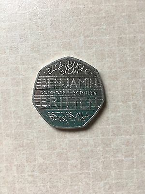 Rare Collectible Benjamin Britten 50p Coin Highly Sort After