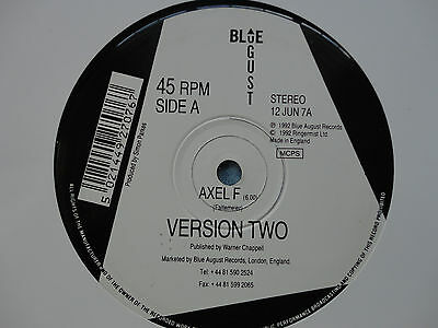 "Harold Faltermeier Axel F Version Two 12"" Single 1992 **MINT**"