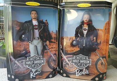 Ken and Barbie Harley-Davidson dolls new in the box
