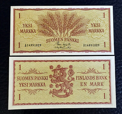 Finland Finnish 1 Markkaa 1963 UNC BANKNOTE CURRENCY EUROPEA PAPER MONEY