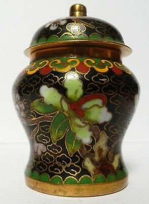 Miniature Chinese Cloisonne ginger jar