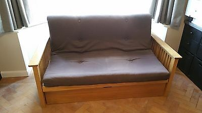 Two seater futon/sofa bed Oak