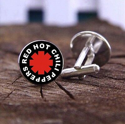 Red Hot Chill Peppers - Cufflinks - 3D Glass Lens Front - Mens Novelty Gift