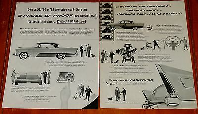 Large 1956 Plymouth Savoy Coupe / Four Door Hardtop Vintage Ad - American 50S