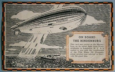 1936 Zeppelin VEEDOL Oil Adv. Postcard of Hindenburg 1st Flight