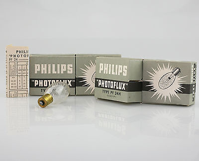 PHILIPS Photoflux PF 24 Flash Bulbs Class FP Bayonet Fit 8 Bulbs/2 Boxes (BZ70)