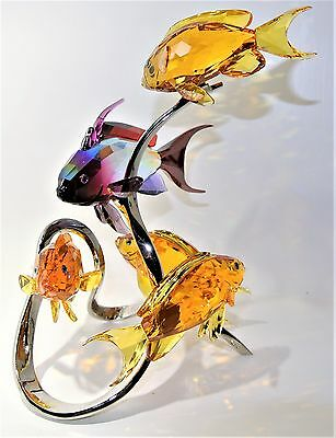 Swarovski Crystal Figurine - Sea Goldies Topaz Fish - 1083778