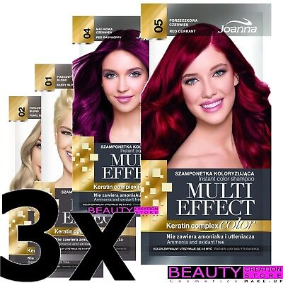 JOANNA Multi Effect Keratin Complex Instant Hair Color Shampoo 4-8 Washes JN100