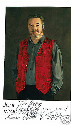 John Virgo Snooker Player and TV presenter  Hand signed Photograph 6 x 3