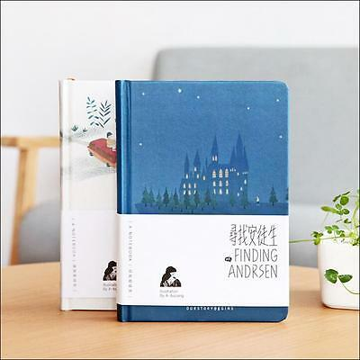"""Finding Andersen"" 1pc Hard Cover Notebook Blank Art Drawing Paper Journal Diary"