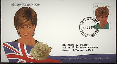 Nevis First Day Cover 1998 In Memory Of Princess Diana