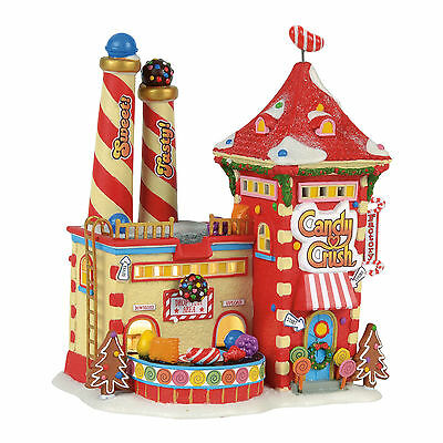 Dept 56 NP Candy Crush Factory Lit House Building NEW 4056669 2017 North Pole