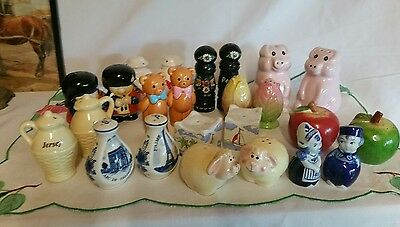 joblot of collectable salt and pepper pots