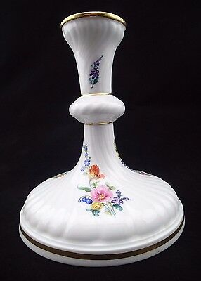 Antique Meissen Porcelain Hand Painted Candlestick