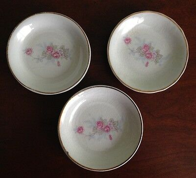 LOT OF 3: Porcelain Hand Painted ButterPats