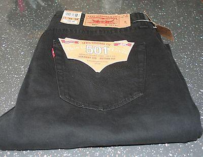 "BNWT Black - Levi's 501 W36"" / L34"" - Button Fly - Unworn with Tags"
