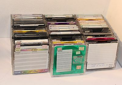 45 x 74 MINUTE MINI DISCS , RECORDABLE , PRE-OWNED , TREAT AS BLANKS TDK SONY