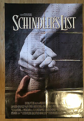 Schindler's List (1993) Original Cinema One sheet