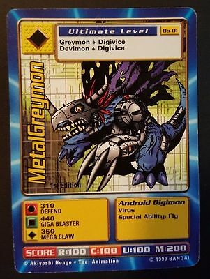 METALGREYMON - Bo-01 1ST EDITION Ultimate Level Digimon card - PL/EXC