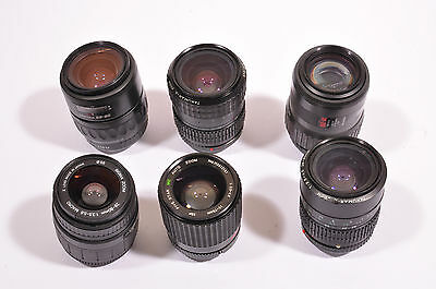 Six Pentax Takumar Sigma SLR Camera Lens Lot PK Mount AF Parts or Repair Only