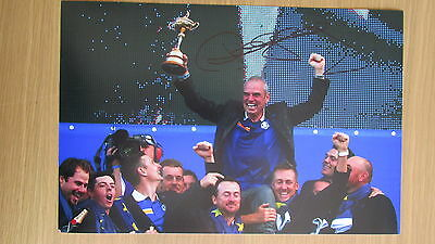 "hand signed 2014 Ryder Cup Golfer ""Paul McGinley"" 12""x8"" photo (COA)"