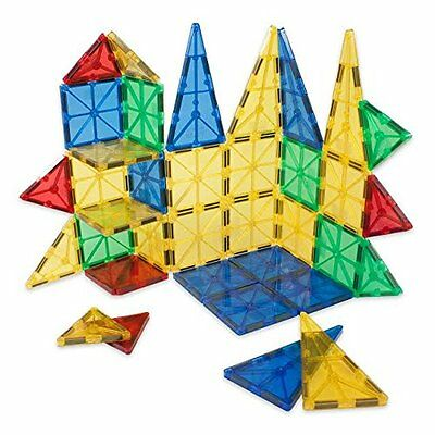Jolly Mags Magnetic Tiles Set - 3D Building Blocks Toy with Magnets for Kids - B