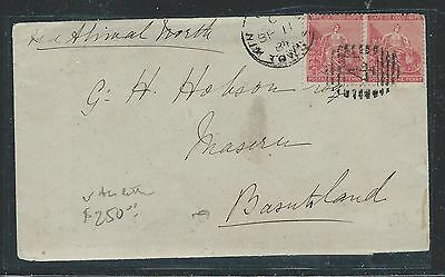 Basutoland (Pp0312B) 1884 Incoming Cover From Aliwal North To Maseru With Letter
