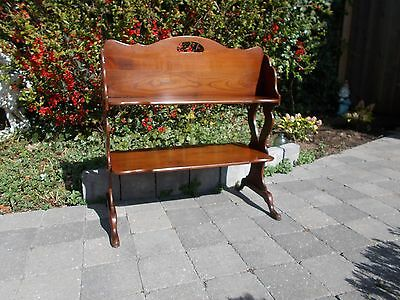 Antique Bookcase Book Stand Library Rack Solid