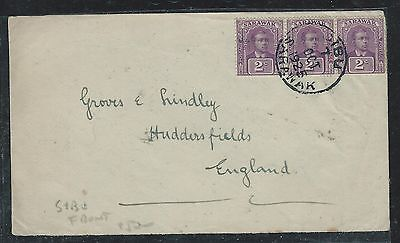 Sarawak (P0701B) Brooke 2Cx3  Front1925 Sibu  To England, Front Only