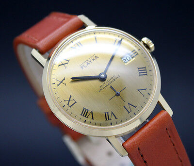 New Old Stock 34mm PLAYCA DRESS vintage mechanical watch NOS Lorsa 238