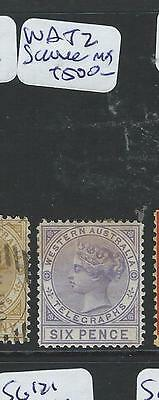 West Australia  (B1001B) Qv Telegraph Sg T2  Mog  Very Scarce