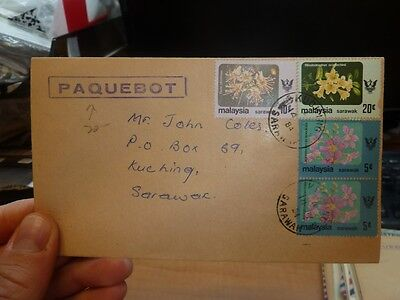 Sarawak Paquebot 1984 Cover Flowers X 4 cover one (1beh)