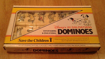Excellent 1984 Disney 101 Dalmatians Domino Set Rare With Contents Still Sealed