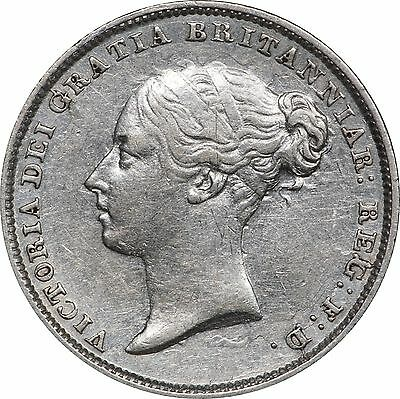 1856 UK Great Britain Victoria 6 Pence, VF / XF