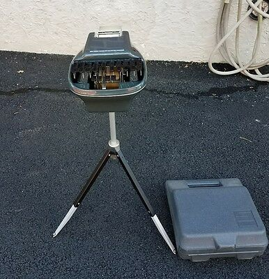 Stenograph Reporter Model with Tripod and Case - Outstanding Condition